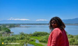 Enjoying at Wular Lake