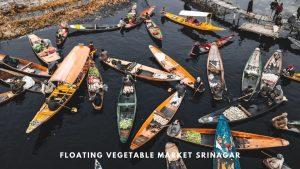 Floating vegetable Market Srinagar