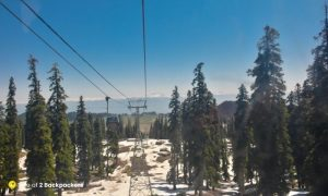 View from the cable car at Gondola ride