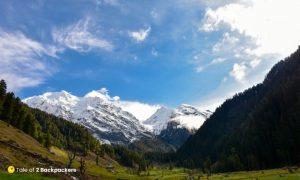 Pir Panjal ranges as seen from Aru Valley