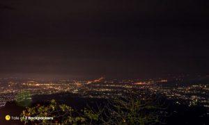 Night view of Siliguri from Mahaldiram