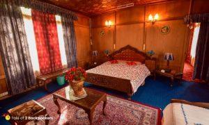 Room inside a houseboat of Kashmir